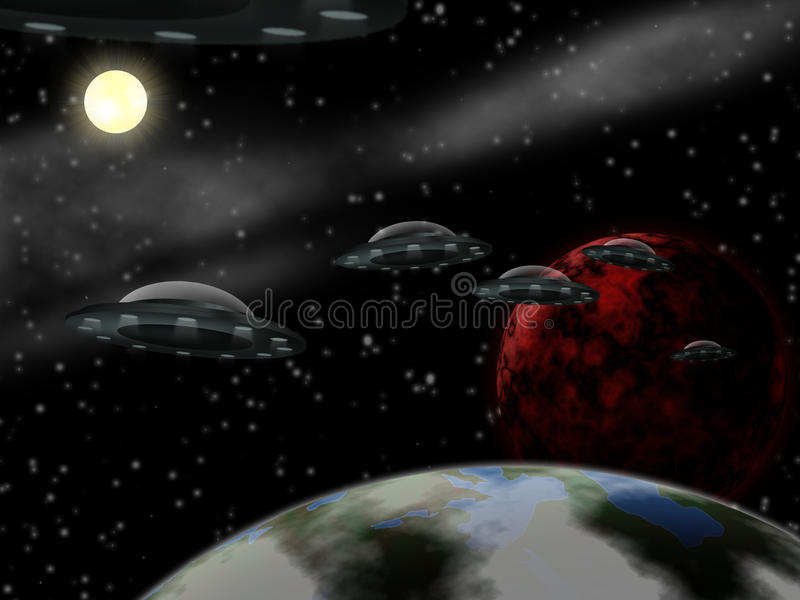 Cena do espaço ilustração royalty free