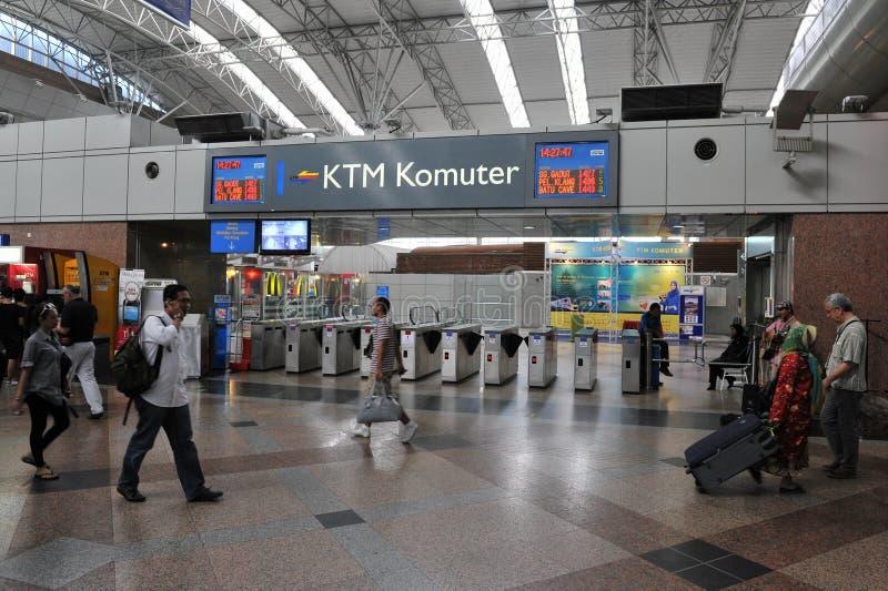 Cena do estação de caminhos-de-ferro - quilolitro Sentral em Kuala Lumpur imagens de stock royalty free