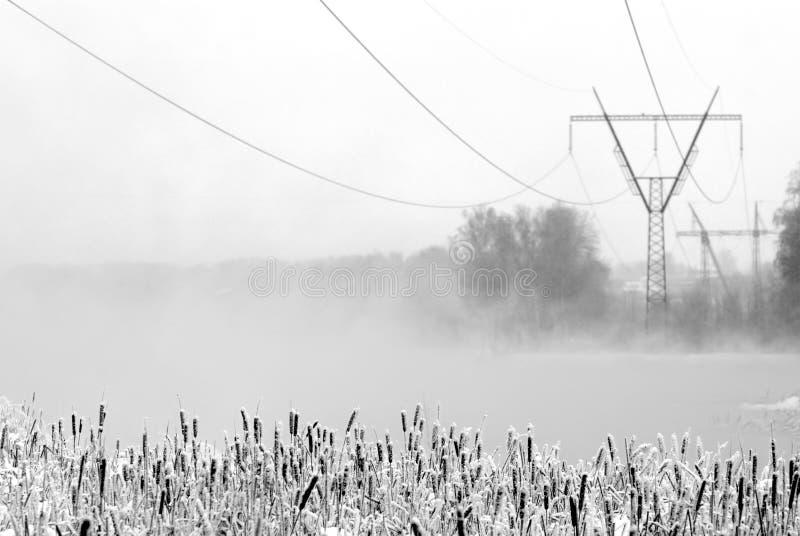Cena do inverno fotografia de stock