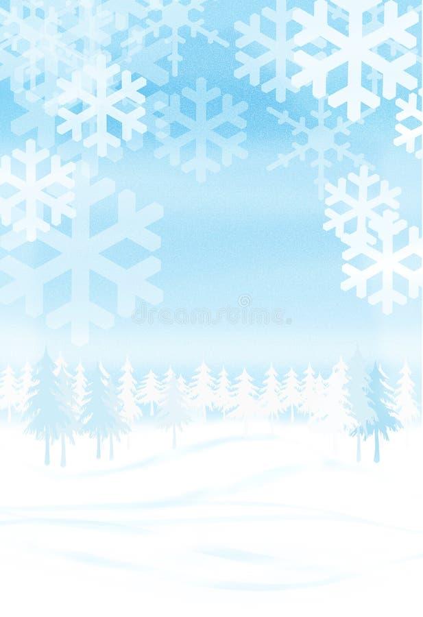 Cena do inverno ilustração do vetor