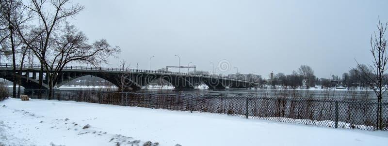 Cena do inverno de Montreal imagem de stock royalty free