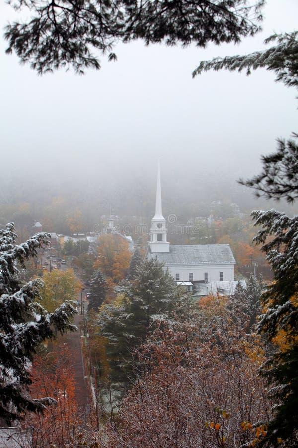 Cena do inverno de Nova Inglaterra fotografia de stock