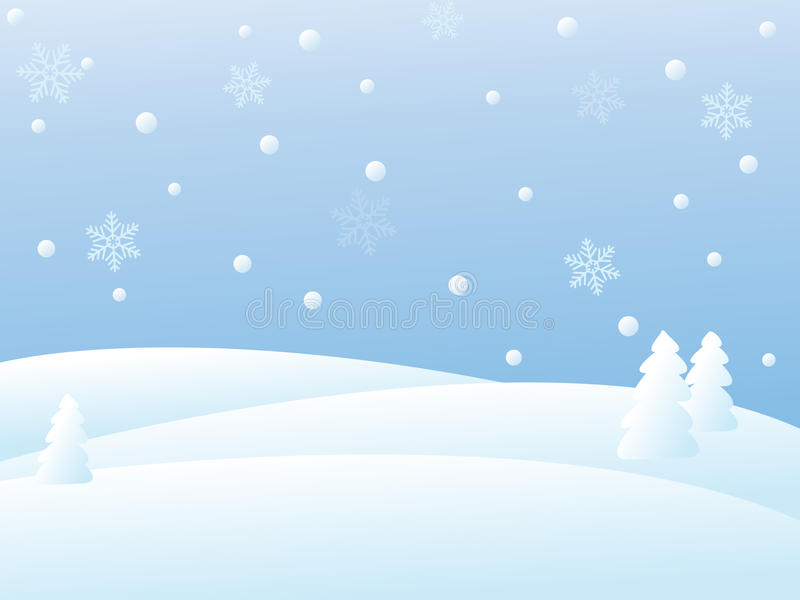 Cena do inverno do vetor ilustração do vetor