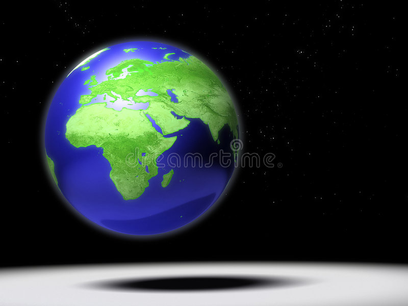 Cena do mapa de África ilustração royalty free
