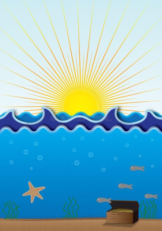Cena do mar ilustração stock