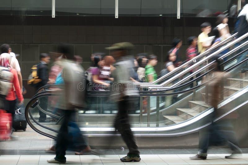 Cena do metro imagem de stock