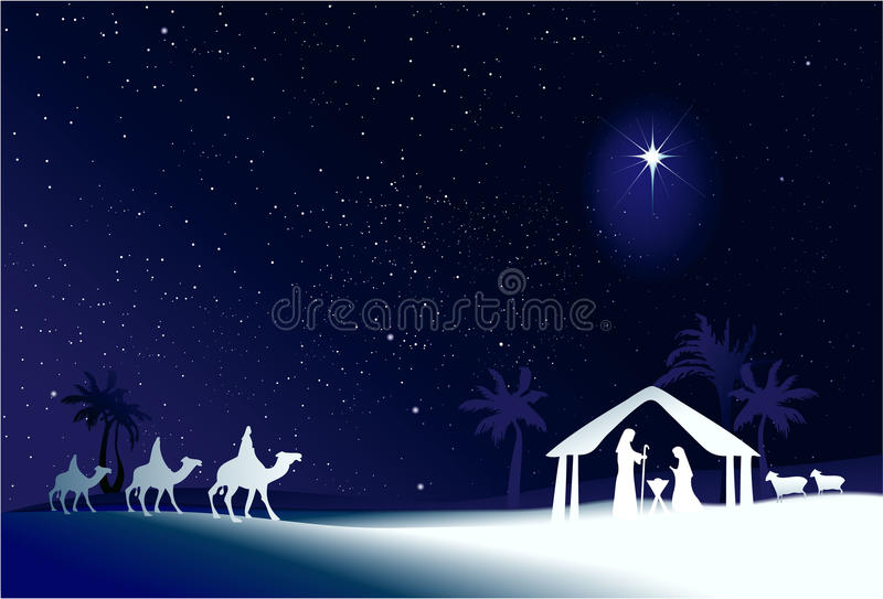 Cena do Natal ilustração do vetor
