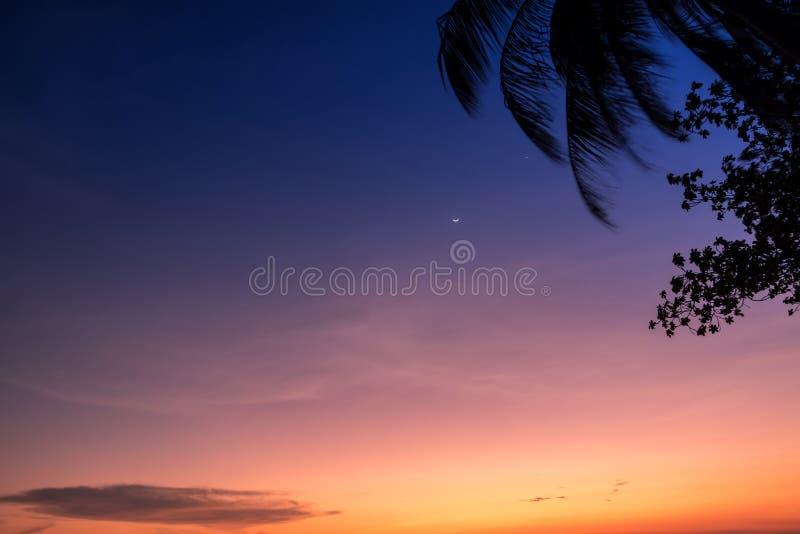 Cena do por do sol fotografia de stock royalty free