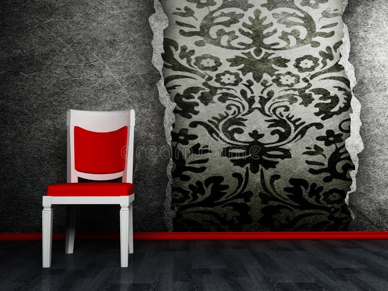 Cena do projeto interior ilustração royalty free
