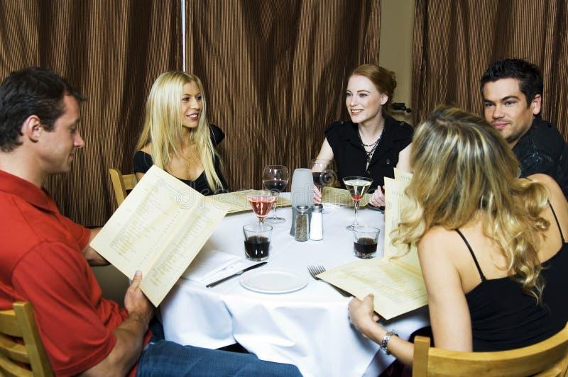 Cena do restaurante imagens de stock