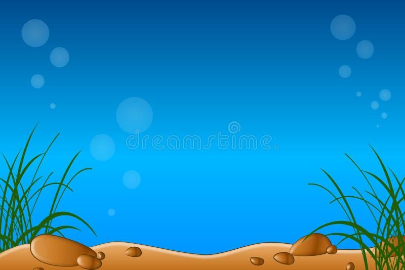 Cena do Underwater ou do aquário ilustração stock