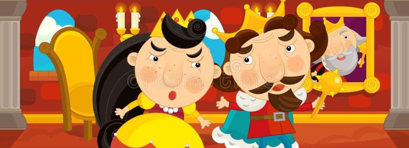 Download Cena Dos Desenhos Animados Do Casal Na Sala Do Castelo Ilustração Stock - Ilustração de união, menina: 65575663