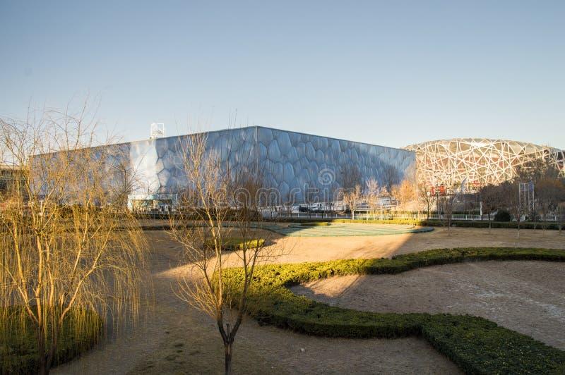 Cena exterior nacional de China o Estádio Olímpico imagem de stock royalty free