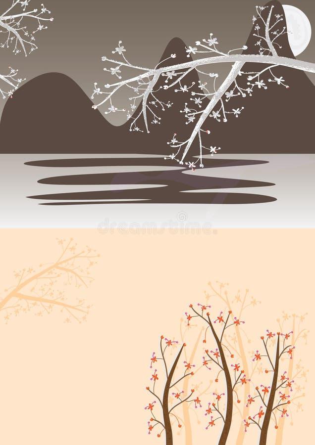 Cena Flowers_eps ilustração do vetor
