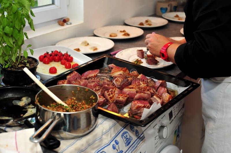 Cena francesa gastr noma imagen de archivo imagen de for Cenas francesas