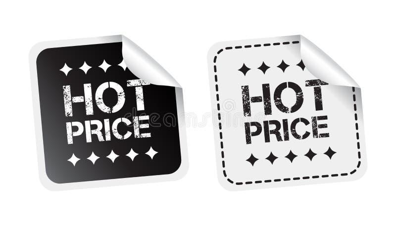 cena gorący majcher Czarny i biały wektorowa ilustracja ilustracja wektor