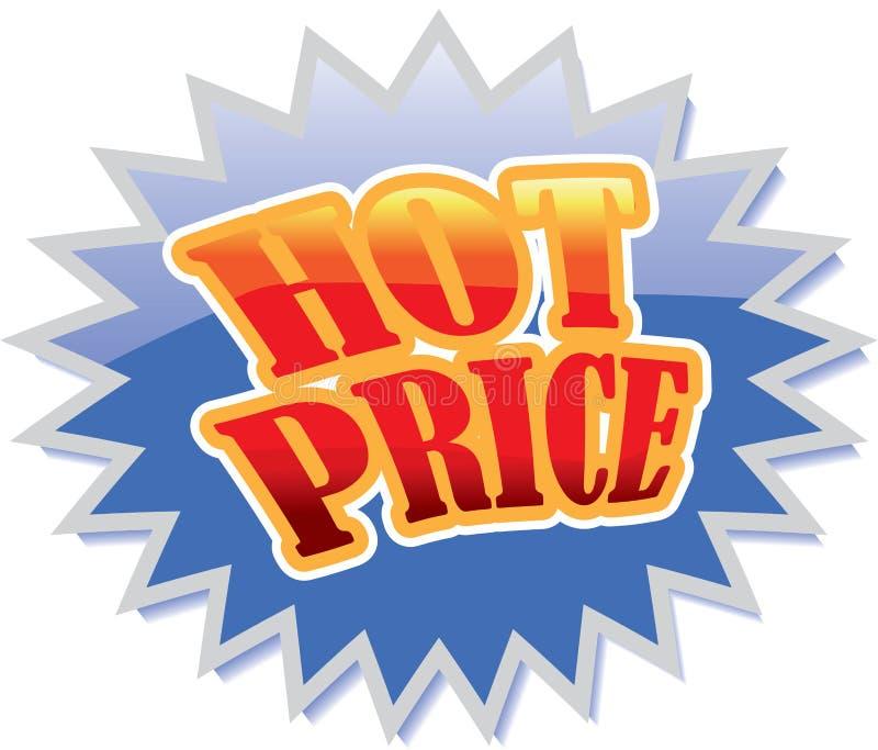 cena gorący znak royalty ilustracja