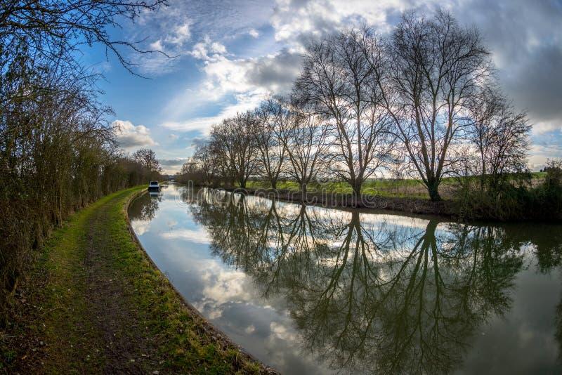 Cena grande da paisagem do canal da união fotos de stock royalty free