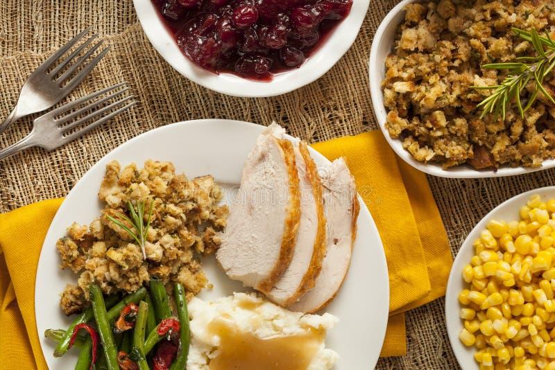 Cena hecha en casa de la acción de gracias de Turquía