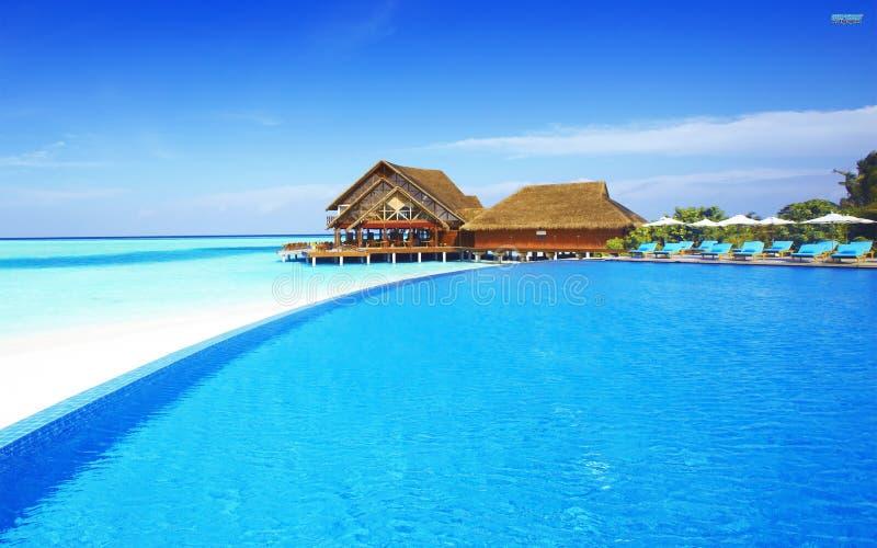 Cena impressionante de Maldivas fotos de stock royalty free