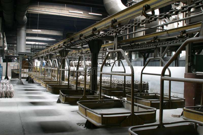 Cena industrial da fábrica imagem de stock royalty free