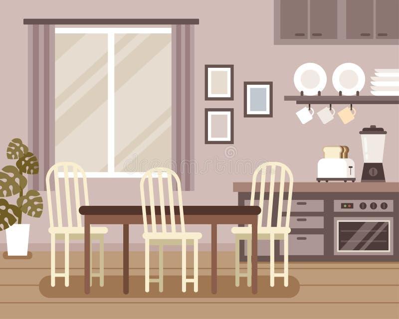 Cena interior bonita ilustração do vetor