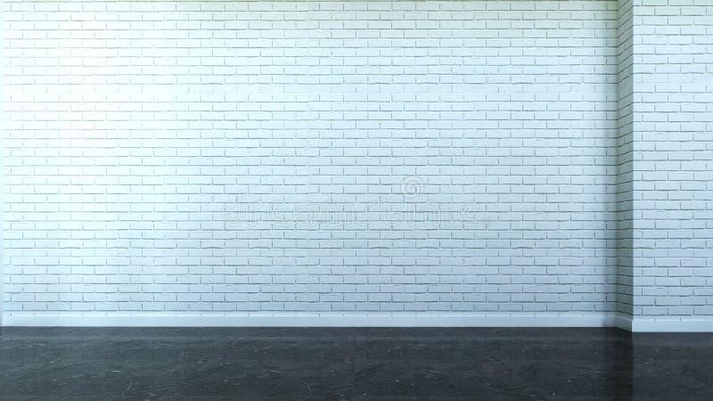 Cena interior com a parede dos tijolos ilustração stock