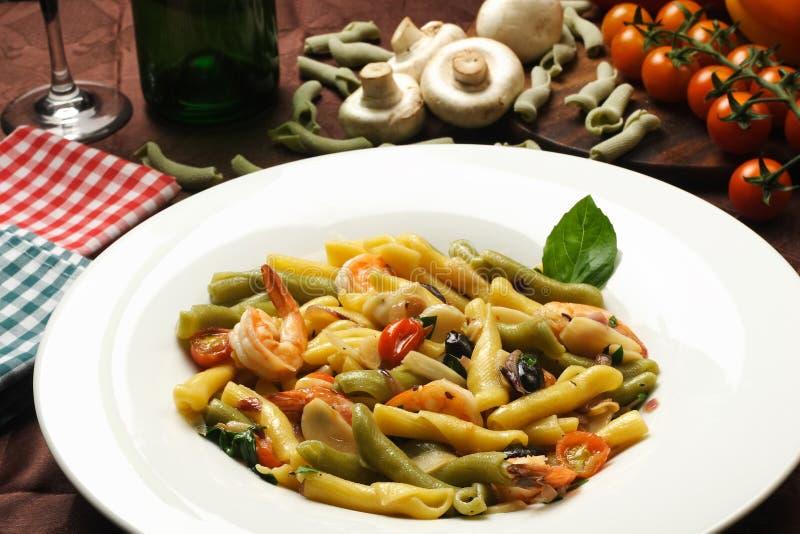 Cena italiana del patsa fotos de archivo