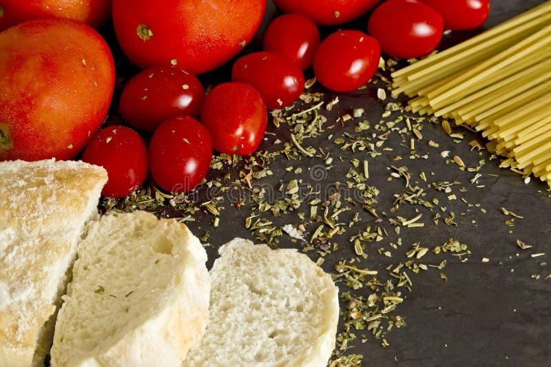Cena italiana do alimento fotografia de stock