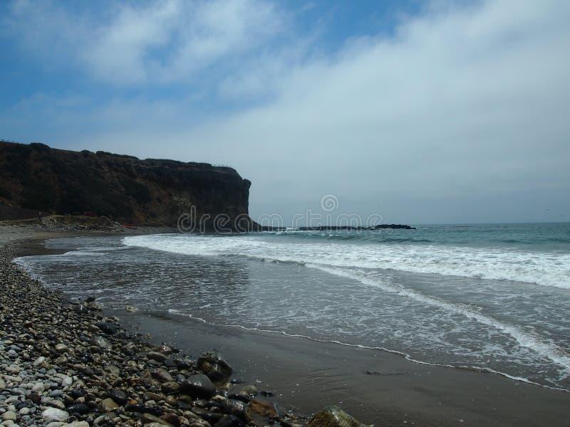 Cena Long Beach do oceano imagens de stock