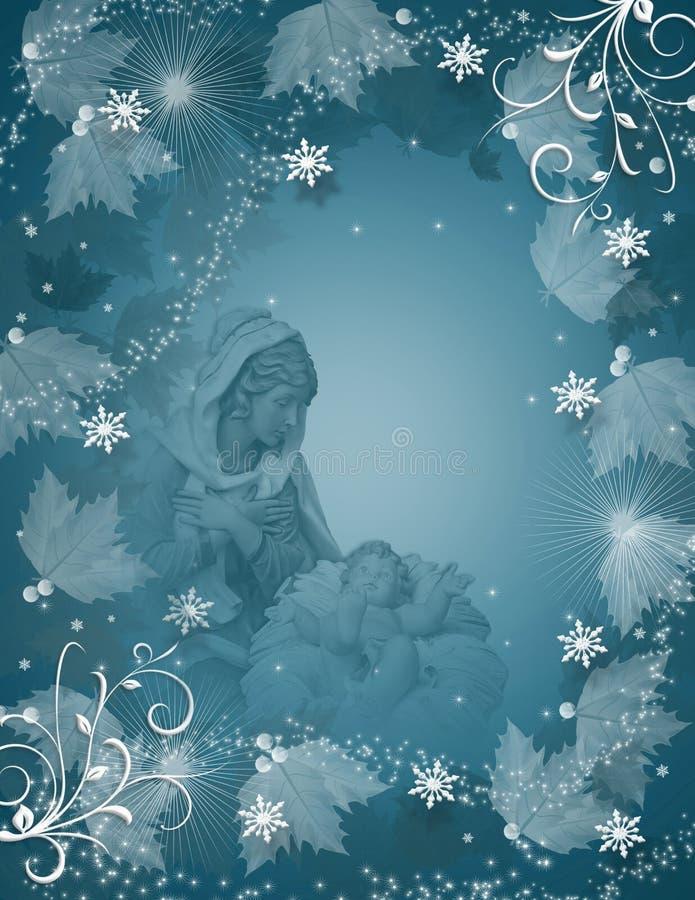 Cena mágica da natividade do Natal ilustração do vetor