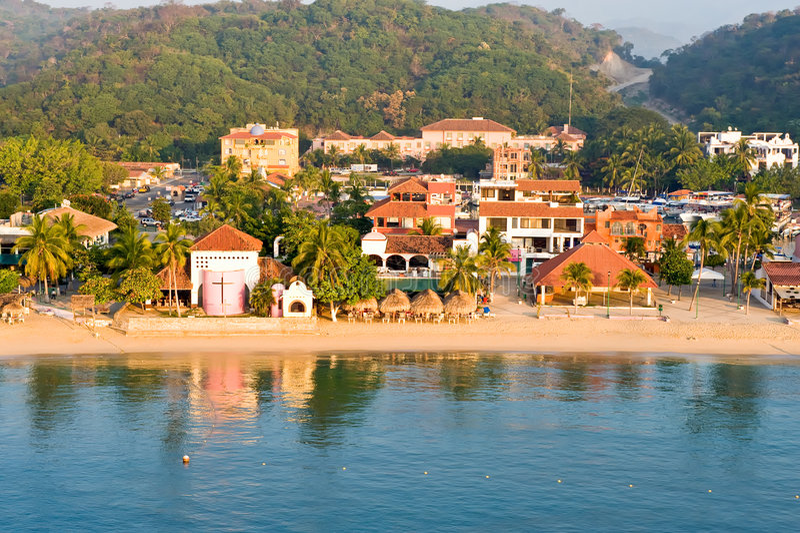 Cena México da praia de Huatulco imagens de stock
