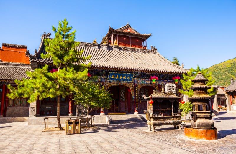 Cena-Manjusri de Wutaishan (montagem Wutai) (Wenshu) Salão do templo de Wuye fotografia de stock royalty free