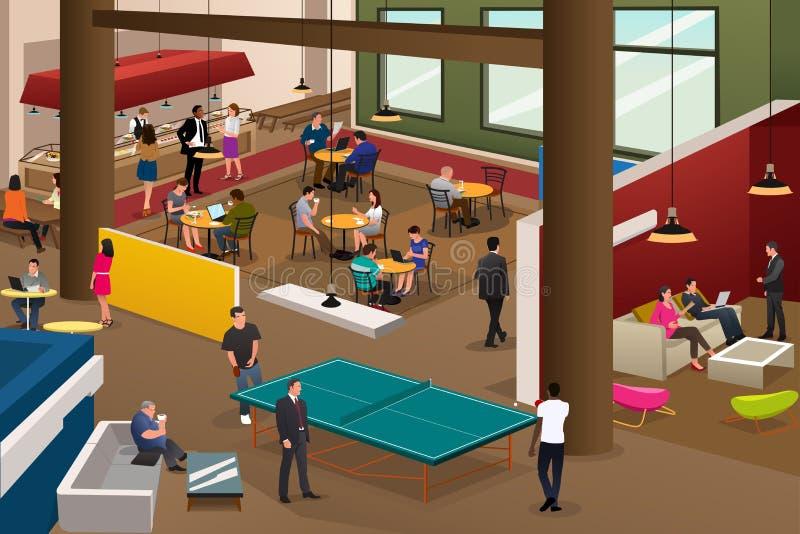 Cena moderna do escritório ilustração royalty free