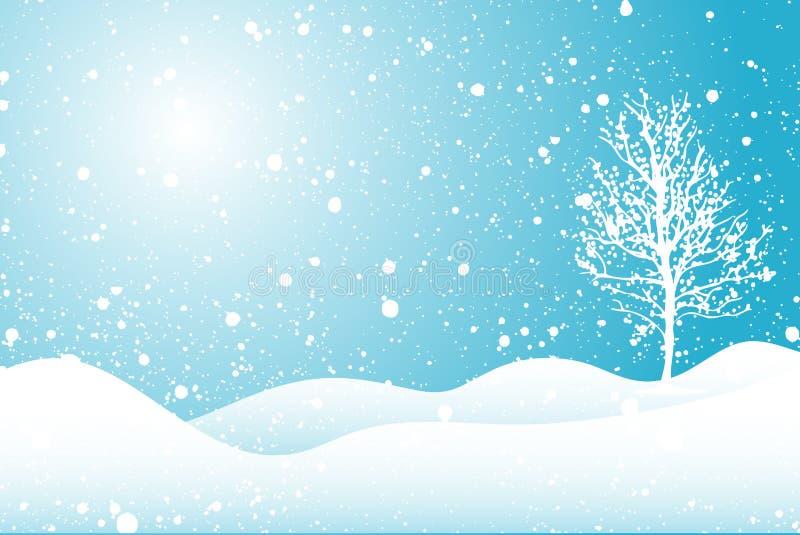 Cena nevado ilustração do vetor
