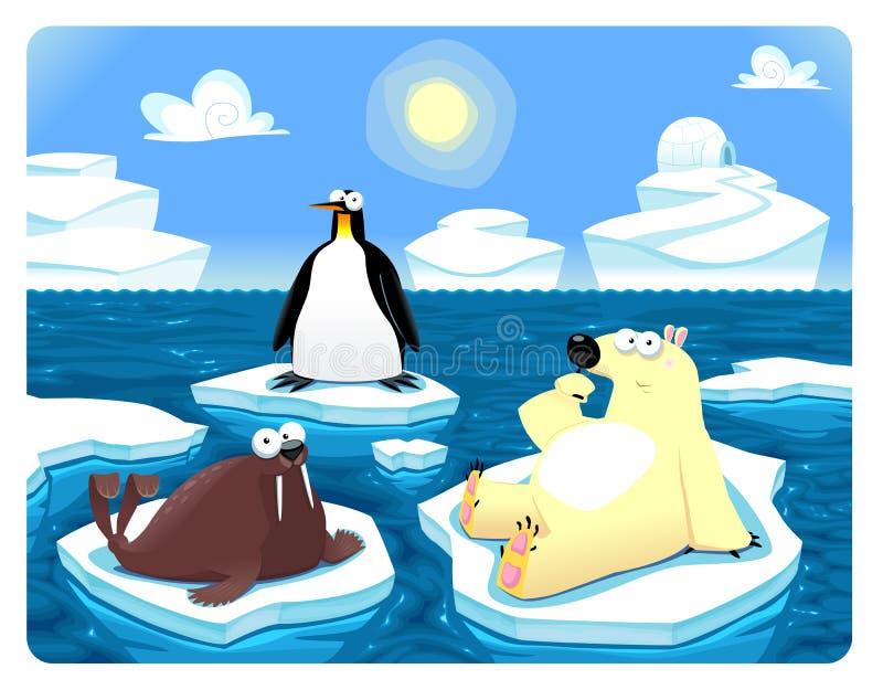 Cena polar. ilustração stock