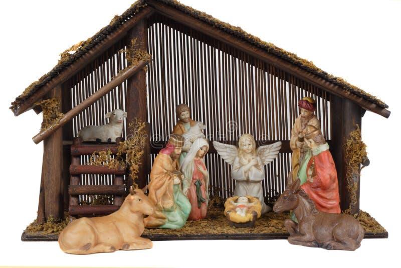 Cena religiosa da natividade foto de stock