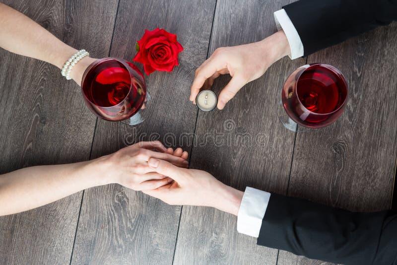 Cena romantica immagine stock libera da diritti