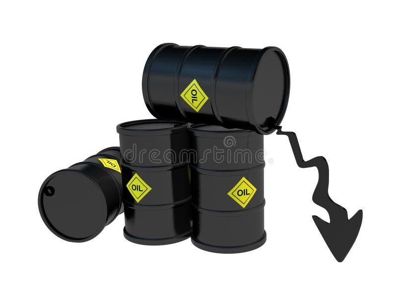 Cena ropy puszka baryłki obrazy royalty free