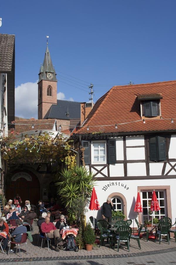 Cena Sankt Martin do café, Rhineland-Palantine germany foto de stock royalty free