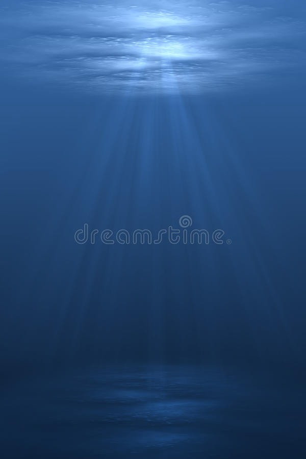 Cena subaquática ilustração royalty free