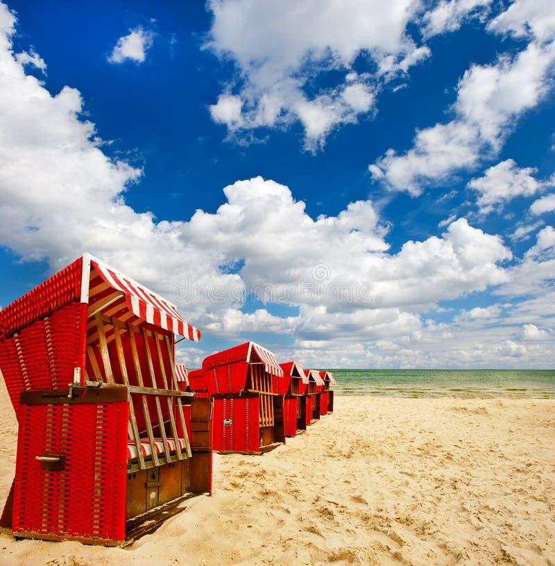 Cena típica no mar Báltico. lanscape com cl fotografia de stock royalty free