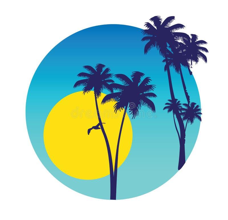 Cena tropica do verão ilustração royalty free