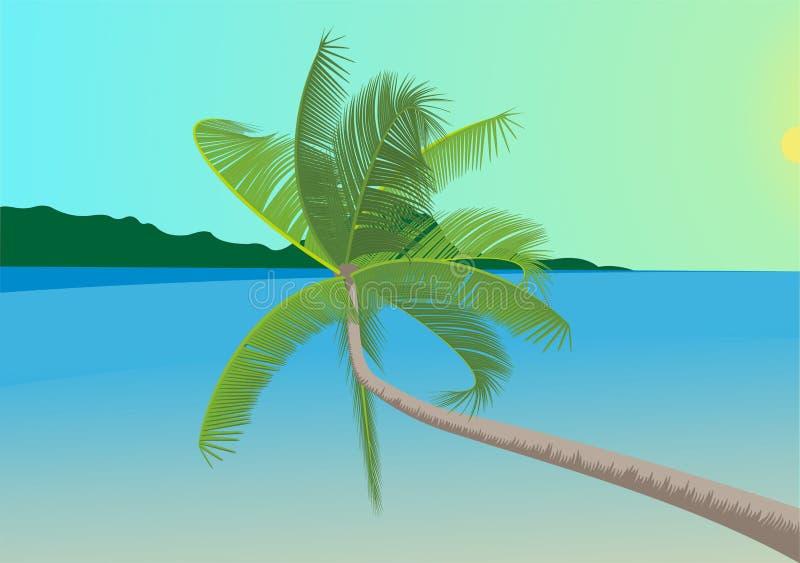 Cena tropical ilustração do vetor