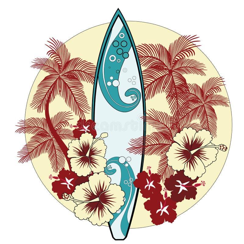 Cena tropical ilustração royalty free