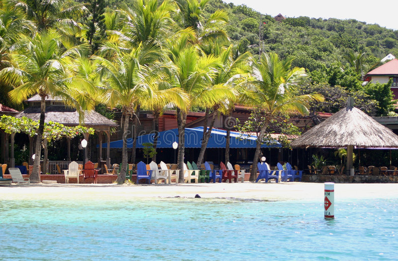 Cena tropical da praia imagens de stock