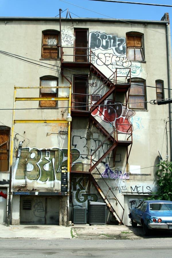 Cena urbana dos grafittis imagem de stock