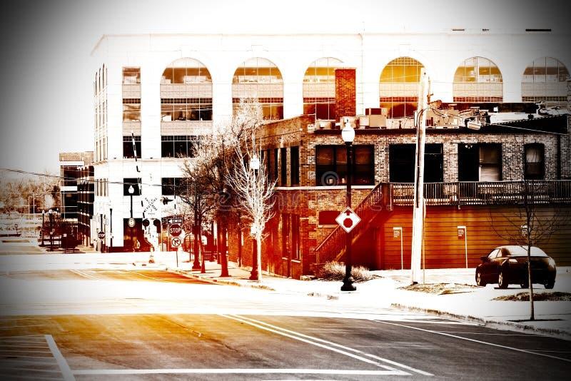 Cena urbana em Chicago imagem de stock