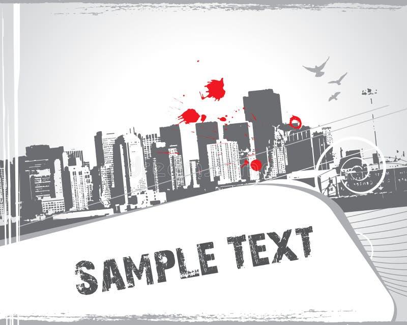 Cena urbana moderna com texto da amostra ilustração royalty free