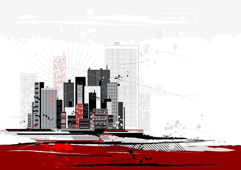 Cena urbana, vetor ilustração royalty free